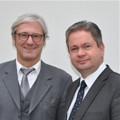 Zum Antrittsbesuch im Kreis Bergstraße: Jochen Partsch Oberbürgermeister Darmstadt (links) zu Gast bei Landrat Matthias Wilkes