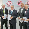 HSE-Vorstand komplett: Aufsichtrsratsvorsitzender Jochen Partsch mit den drei HSE-Vorständen Michael Böddeker, Andreas Niedermaier und Karl-Heinz Koch (von links).