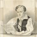 Bildnachweis: August Hoffmann, Georg Büchner mit Notenblatt, 1833, Privatbesitz Gießen, Copyright Institut Mathildenhöhe Darmstadt