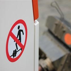 Übersteigen der Kupplungen verboten / Bild: HEAG mobilo GmbH