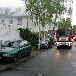 Brand in der Heimstädtensiedlung / Bild: Feuerwehr Darmstadt