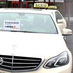 Taxis für die Kunden der HEAG mobilo / Bild: HEAG mobilo GmbH