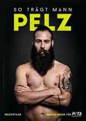"""So trägt Mann Pelz"": Marco Sailer für PETA / © Marc Rehbeck für PETA"