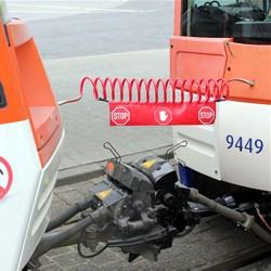 HEAG mobilo testet neue Barriere an Straßenbahnkupplung / Bild: HEAG mobilo GmbH