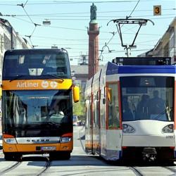 Bus und Bahn - Bild: HEAG mobilo GmbH