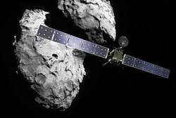 Rosetta at target comet Bild: ESA