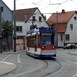 Pflaster- und Gleiserneuerung in Arheilgen / Bild: HEAG mobilo GmbH