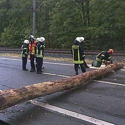 Unwetter / Bild: Feuerwehr Darmstadt
