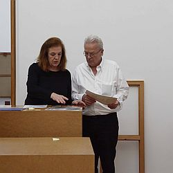 Carmen und Imi Knoebel 2018 HLMD / Foto: Wolfgang Fuhrmannek, HLMD