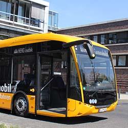 Batteriebetriebener Gelenkbus / Bild: HEAG mobilo GmbH