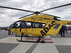 Christoph 77 nach der Landung auf dem Heli-Deck / Bild: Klinikum Darmstadt GmbH