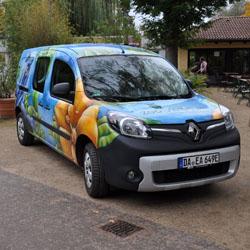 Elektro-Fahrzeug © Wissenschaftsstadt Darmstadt / Zoo Vivarium