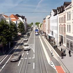 Haltestelle Bessunger Straße / Bild: HEAG mobilo GmbH