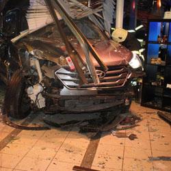 Unfallauto / Bild: Polizeipräsidium Südhessen