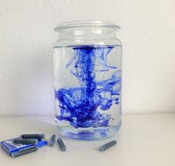Tinten-Experiment, Auszug aus »Die Farbe Blau«, Dagmar Boltze