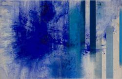 Gerd Winter: Zeitspur I, 2018/20, Mischtechnik auf Leinwand, 130 x 90 cm